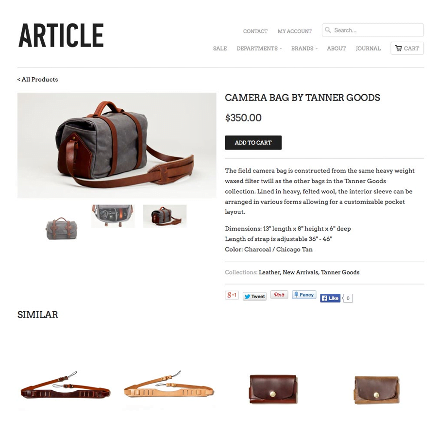 Product details landing page are more common with eCommerce websites